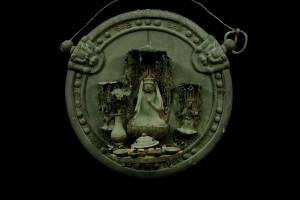 滋賀・大田神社十一面観音三尊像懸仏(南北朝時代)